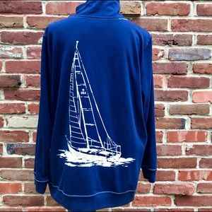 ALFRED DUNNER America Cup Knit Sailboat Jacket